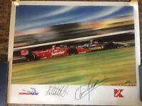 Michael Andretti and Christian Fittipaldi Signed Poster! PSA/DNA COA! RARE!