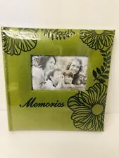 "Dept 55 Photo Albums  Green 9"" x 9"" for 200 Photos"