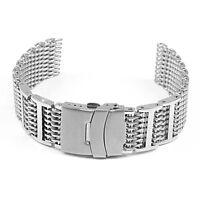StrapsCo H-Link Stainless Steel Shark Mesh Strap Watch Band Proplof