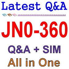 Juniper Networks Certified Internet Specialist JNCIS-SP JN0-360 Exam Q&A PDF+SIM