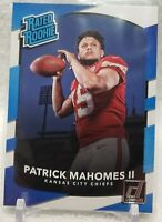 Patrick Mahomes 2017 Donruss Rated Rookie Card RC #327 KC Chiefs SHIPS TODAY