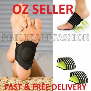 Foot Heel Pain Relief Plantar Fasciitis Insole Pads Arch Support Braces Shoes AU