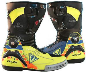 VR Motorcycle Motorbike Leather Boots EV Design Waterproof