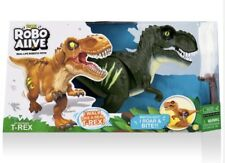 Bnib Zuru Robo Alive Attacking T-rex Jungle Green Electronic Robotic Pet Trex