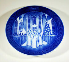 "Royal Copenhagen 1991 Christmas Plate ""The Festival of Santa Lucia"""