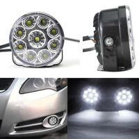2stk 9 LED-Runde Nebelscheinwerfer Tagfahrlicht DRL Birnen-Weiß Fahren