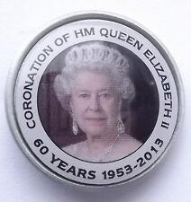 hm Königin Elisabeth II coronation 1953 - 2013 Sammler anstecker