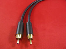 Canare GS6, GS-6 RCA to RCA Audio Cable 1 Ft, BLACK.
