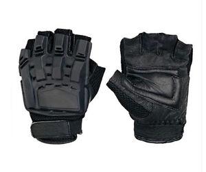 Nice outdoor sports half finger grapple tactical gloves black M-B1107