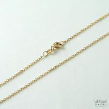 Ladies / Womens Solid 9ct Gold Pendant 16 inch Fine Trace Chain 1.3g RRP £80