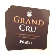 Collectable St Feuillien Grand Cru Square Belgian Beer Mat / Coaster x4