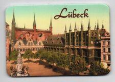Magnet LÜBECK nostalgisch Rathaus historisch Kühlschrankmagnet Pinnwand Souvenir