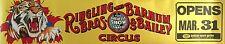 "RINGLING BROS BARNUM BAILEY ORIGINAL CIRCUS POSTER 1980's 29"" X 144"" MAJOR FIND"