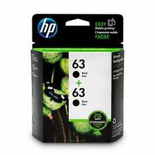HP 63 Lot de 2 cartouches d'encre d'origine noir (T0A53AN)