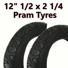 2x Noir Pneu de poussette (62-203) 12 1/2 x 2 1/4 promeneur TROTTINETTE