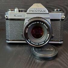 Pentax K1000 35mm SLR Film Camera with SMC Pentax-M 50mm f2 Lens (Tested)