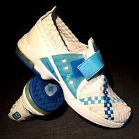 RARE VINTAGE NIKE RETRO AIR MAX BOX WEAVE white blue trainers Sz 8.5 US 40 EUR