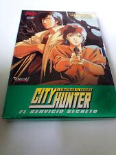 """DVD """"CITY HUNTER EL SERVICIO SECRETO"""" COMO NUEVO TSUKASA HOJO CON FUNDA CARTON"""