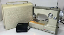 Vintage Sears Kenmore Portable Sewing Machine Model 1040 Rose Case 158-10400