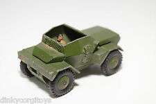 DINKY TOYS 673 SCOUT CAR ARMY GREEN EXCELLENT CONDITION