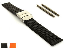 Silicone Rubber Watch Strap Band Waterproof with Clasp 18 20 22 24 ST MM