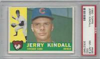 1960 Topps baseball card #444 Jerry Kindall, Chicago Cubs PSA 8 OC