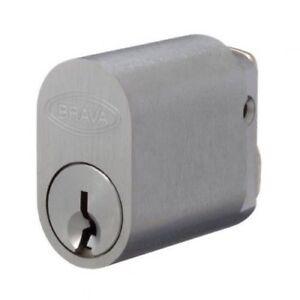 Brava 570 Oval Cylinder X W Z & Rabbit Cams 6 Pin Keyed To Differ Satin Chrome