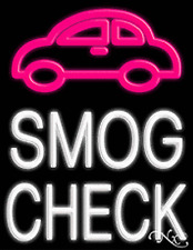 "Brand New ""Smog Check"" 31x24 W/Logo Real Neon Sign w/Custom Options 10444"