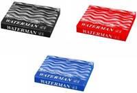 Waterman Paris Ink Cartridge Pack of 8 Pcs each Black / Florida Blue / Red