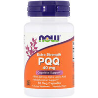 NOW Foods Extra Strength PQQ 40 mg - 50  vCaps COGNITIVE MITOCHONDRIAL SUPPORT