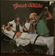 (HARD ROCK LP) GREAT WHITE - RECOVERY LIVE (SEALED w-NOTCHMARK)