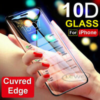 For IPhone X XS MAX XR 8 + 10D Full Cover Real Tempered Glass Screen Protector