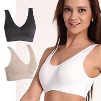 PACK OF 3 Nude White Black Seamless Sports Style Bra Crop Top Comfort Stretch