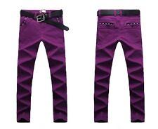 "Men's Stretch Skinny Jeans Slim Fit Trousers Pants 100%Cotton Big Size W28""-44"""