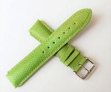 TechnoMarine Genuine Lizard Leather Watch Strap Band 17MM Green - 1036 NEW