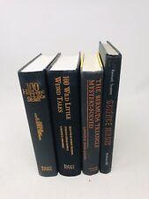 Vintage Lot Decor Books, Black & Orange, Halloween, Staging Instant Library