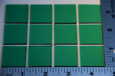 "1417.30- 12 TRANSPARENT EMERALD GREEN 1"" x 1"" 3mm THICK BULLSEYE GLASS 90 COE"