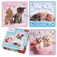 Trefl 3 In 1 20 + 36 + 50 Piece Sweet Lovely Cuddly Kittens Jigsaw Puzzle NEW