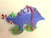 Kurt S. Adler Blue Dinosaur Christmas ornament 1985 vintage