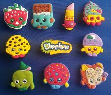 10 PC SHOPKINS CANDY COOKIE FRUIT JIBBITZ SHOE CHARMS CROCS TOPPERS PARTY FAVORS