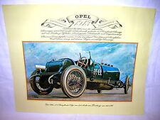 Vintage Bild Poster 1913 Opel 12 Liter Vierzylinder Typ  ca. 41 x 33cm