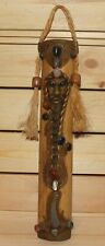 Vintage African hand made ornate wood wall hanging plaque