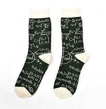 Maths Socks Physics E=mc Squared UK Size 5-8 Geek Nerd College Hipster Equations