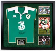 Brian O'DRISCOLL Signed & Framed Shirt Ireland Rugby Legend (with AFTAL RD COA)