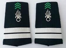 Fourreaux d'épaules Grades Galons pour LIEUTENANT du Cavalerie 1°REC Légion