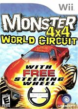 NEW Monster 4X4: World Circuit with wheel  Nintendo Wii FREE SHIPPING