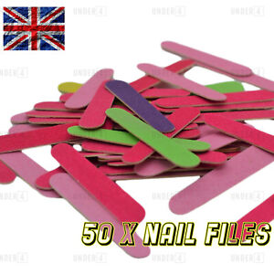 Mini Nail Files Double Sided 180/240 Grit Pedicure Manicure Travel Disposable UK