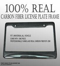 JDM 1PC 100% Real CARBON FIBER LICENSE PLATE FRAME HOLDER Front/Rear 5HA