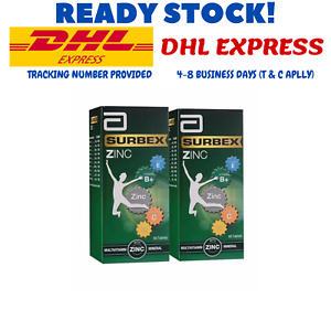 2 botlles X 60's Anti-Stress Surbex Zinc High Strength Vitamin B with Zinc DHL