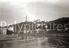 Lyon Saône Quai Chauveau & Fourvière Repro tirage photo ancienne déb. XXe s.